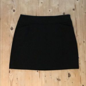 NWT LOFT (Ann Taylor) 8P Black Skirt